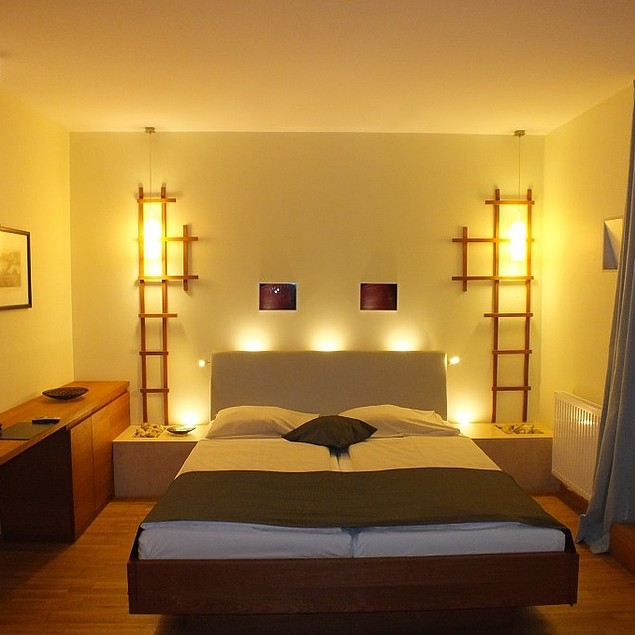 Romantic double room with impressive lighting